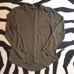 Olive Button Up Blouse